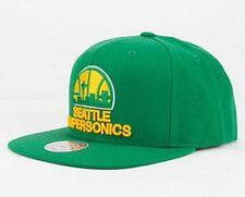 MITCHELL & NESS NBA SEATTLE SUPERSONICS SNAPBACK HAT/CAP 100% AUTHENTIC NEW!!
