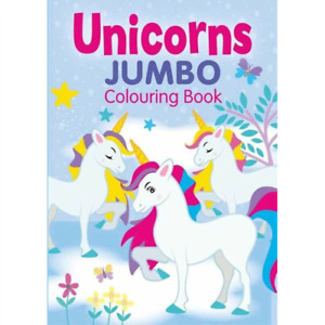 Unicorns Jumbo Colouring Book Kids Childrens Arts & Crafts