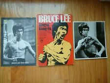 BRUCE LEE King of Kung-Fu Collector Art Book 1974 + 2 Vintage Photos Prints