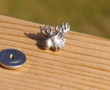 "Loyal Order of the Moose Sterling Silver 1/2"" Screw Post Lapel Pin Pinback"