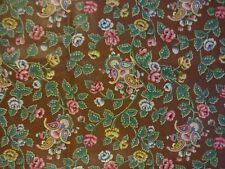 Brown Print Waverly Hastings Home Decorating Fabric  6 Yards
