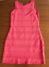 NWT Lauren Ralph Lauren Women's Size L Coral Pink Wiggle Sleeveless Dress