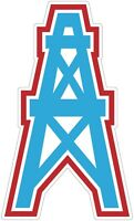 Houston Tennessee Oilers Rig Color Die Cut Vinyl Decal Sticker - You Choose Size