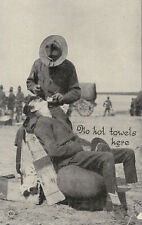 World War 1 Soldier getting a Shave Postcard 1918 -1919