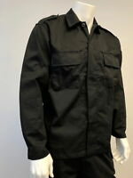 Mens Battle Army Style Dress Uniform Shirt Tactical Top Shirt -Black Size S-2XL