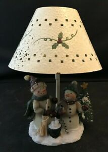 Yankee Candle Tealight Snowman Lamp with Shade