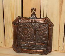 Vintage Soviet Russian Leningrad souvenir metal wall hanging plaque