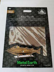 Metal Earth Nautilus in colour model kit Disney Park Exclusive