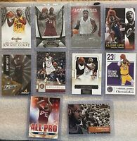 Lebron James Lot Of 10 Cavs Lakers Heat Excalibur Chronicles Panini Certified