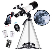 ASTRO Telescope, 70mm Aperture 400mm AZ Mount Astronomical Refracting Telescope