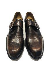 Cole Haan Winfield Brown Crocodile Buckle Men's Loafers Shoes