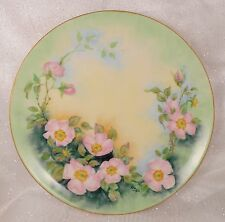 Exceptional Haviland Limoges Apple Blossom Plate Signed NALL 8&3/4in 22cm