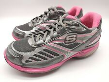Skechers Shape Ups Toners Women's Shoes Gray Pink Silver Size 7 Very Nice!!