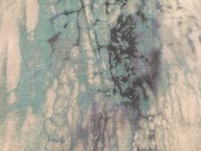"JAB Anstoetz Abstract Linen Uphol Fabric- Groovy Linen / Teal REMNANT 16"" x 42"""