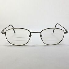 Vtg Seiko Super Titanium Metal Full Rim Rectangle Eyeglass Frames Bronze 140mm