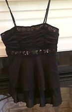 BISOU BISOU womens top~black~small EUC