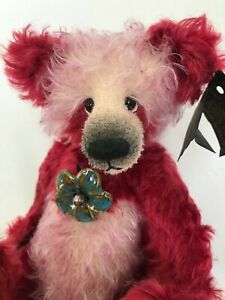 "OOAK Artist Bear By Emma's Bears ""Larve"" 12 inches Mohair"