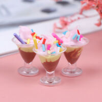 1Pc 1/12 Dollhouse Miniature Food Mini Resin Ice Cream Cups Drinks Model T yi`AU