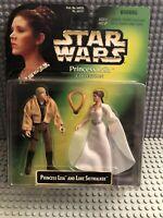 "Star Wars PRINCESS LEIA & LUKE - 2-Pack POTF 3.75"" MOC 1997 New"