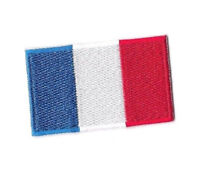 FRANCE FLAG Iron on / Sew on Patch Embroidered Badge French Country World PT141