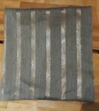 Light blue Duck egg and Silver colour striped cushion covers  16'' square  BN