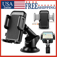 Car Mount 360° Holder Windshield Dashboard Stand Cell Phone GPS iPhone Galaxy