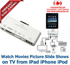 6 in 1 30 pin Camera Connection Kit Adapter HDMI AV  for iPhone iPad iPod