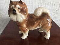 Lovely Coopercraft Ceramic Chow Chow Dog Figure