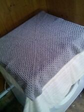 Hand Made Crochet Baby Blanket  30x30 inches Pram Cot SILVER GREY FREE POST