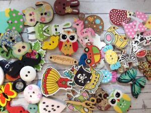 WHOLESALE JOB LOT 50 Assorted Buttons Card Making Scrapbook Craft Embellishments