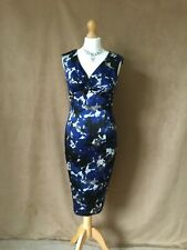 Coast.Ladies Beautiful Blue Floral Special Occasion Evening Dress.Size 8.
