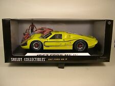 CARROLL SHELBY COLLECTIBLES 1:18 SCALE DIECAST METAL YELLOW 1967 FORD MK IV