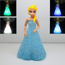 Cute Frozen Princess Figures Doll 7 Color Changing Night Light Kids Boy Girl Toy