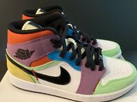 NEW Nike Wmns Air Jordan 1 Mid SE Easter Lightbulb AJ1 CW1140-100 WMNS SIZE 9.5