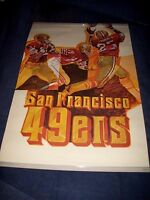 VINTAGE NFL SAN FRANCISCO 49ers FOOTBALL POSTER NICE  24 X 36 LATE 1960s-1970