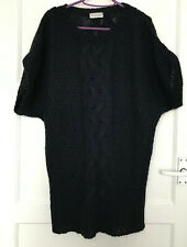 Marks and Spencer M&S Indigo Collection Wool Mohair Blue Chunky Jumper UK Sz 12