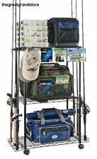 Fishing Rod Rack Storage Holder Multi Pole Holds 12 Rods Tackle Garage NIB Shelf