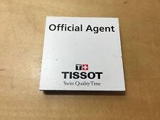 Used in shop - Placa Plaque Official Agent TISSOT - Usado en tienda - 6 x 6 cm