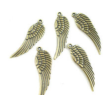 10 Pendentifs breloque  Charme Aile Couleur Bronze 9 x 30 mm