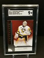 2016-17 UD ARTIFACTS RED 203 SGC 9 ROOKIE RC TRISTAN JARRY 302/799