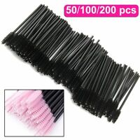 50-200 Disposable Eyelash Brushes Mascara Wands Brush Angled Eyebrow Applicator