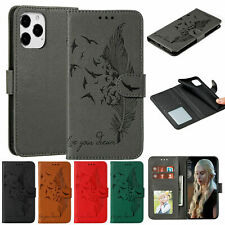 Feather Flip Leather Card Wallet Case Cover For iPhone 13 12 Pro Max 11 XS 8 7+
