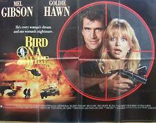 Goldie Hawn  Mel Gibson BIRD ON A WIRE(1990) Original  UK quad cinema poster