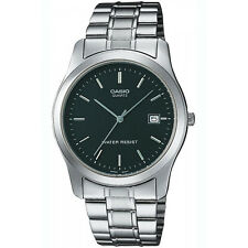 Orologio CASIO IN ACCIAIO INOX MEN'S Watch Data Display & Black Face, MTP-1141PA-1A