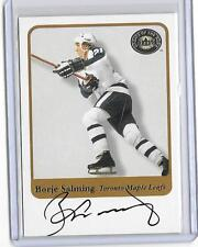 BORJE SALMING 2001 FLEER GREATS OF THE GAME AUTOGRAPH AUTO