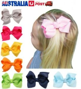 8cm girl hair clips bow red green blue for school and party festival J05