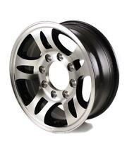 "16X6.5 8-Lug on 6.5"" Aluminum S5 HD Black Inlay Trailer Wheel - S567865HDB"