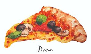 Reproduction 'Pizza' Poster