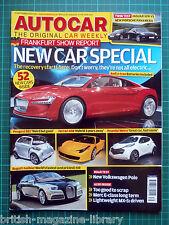 Autocar 23/9/2009 Road Test: VW Polo Panamera S vs Jaguar XFR BMW 535i GT Execut