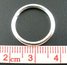 200 16mm Open Jump Rings Silver Plated Jewellery Strong thick 1.5mm jumprings